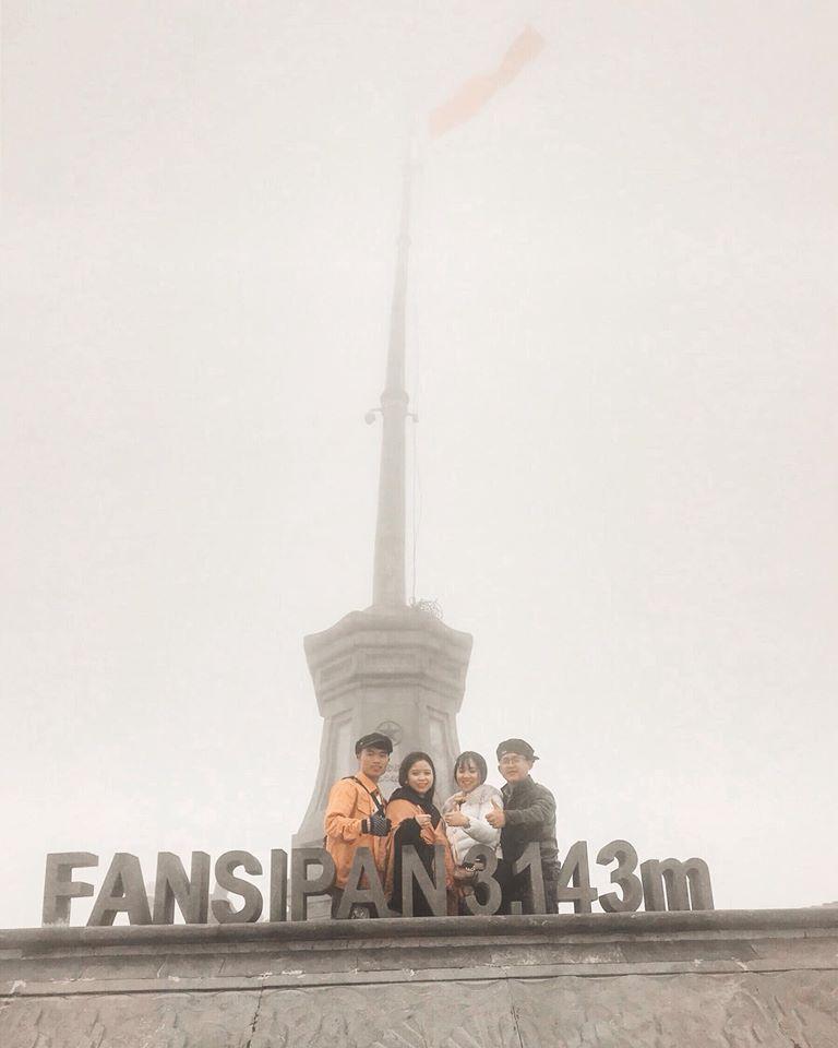 Fansipan độ cao 3.143m so với mực nước biển