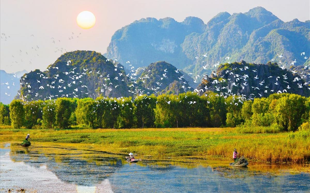 Khu du lịch sinh thía Thung Nham nổi tiếng với  vườn chim